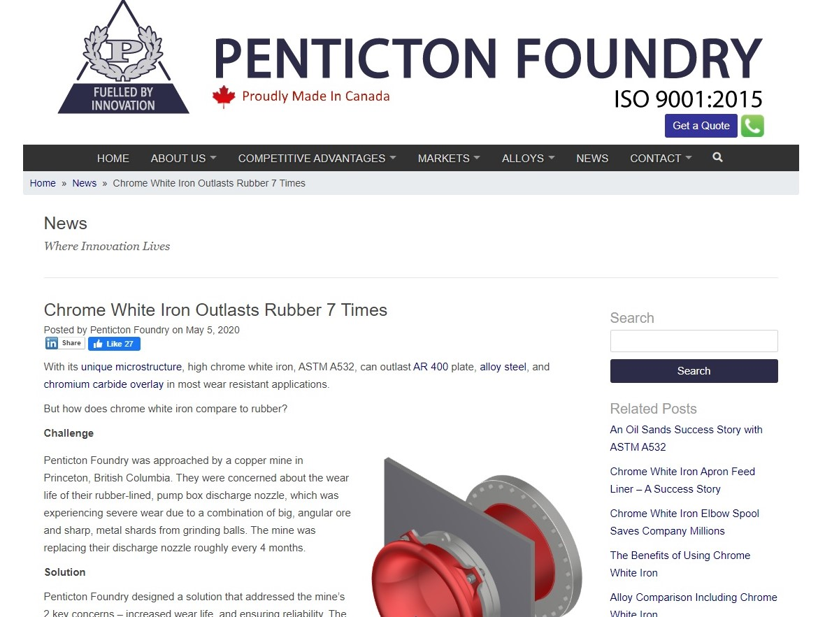 https://www.pentictonfoundry.com/news/chrome-white-iron-outlasts-rubber-7-times/