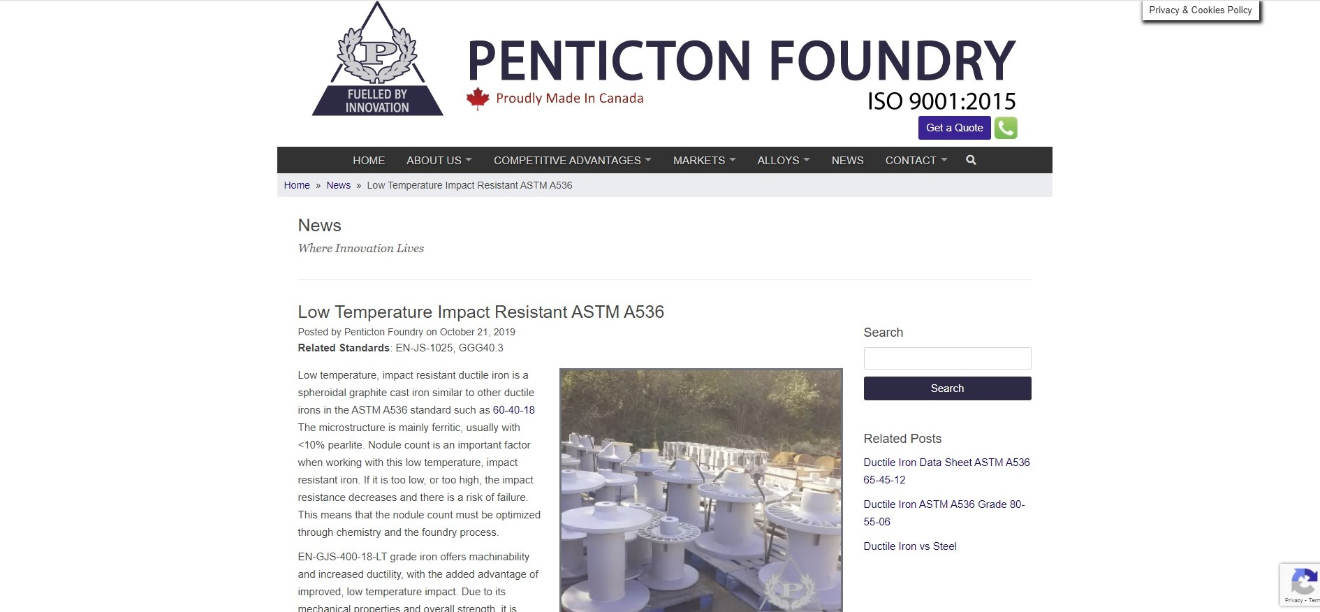 https://www.pentictonfoundry.com/news/low-temperature-impact-resistant-astm-a536/